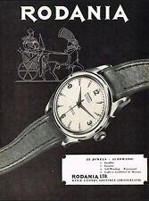 1950s Vintage 1953 Rodania Automatic Swiss Watch Mid Century Modern Art Print Ad
