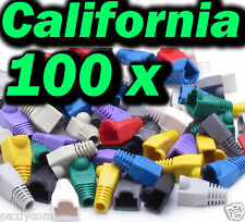 Lot 100 x set RJ45 Connector Modular End Cap Boot Head Cat5 Plug Cat6 Cable 5E