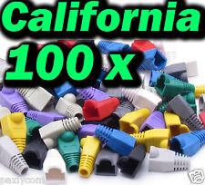 Lot 100 X Pcs Mix Boot CAT5 CAT5E CAT6 RJ45 8P8C Plug Connector End Cap Cable