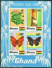 GHANA  IMPERFORATED SOUVENIR SHEET BUTTERFLIES  SCOTT#335a  MINT NEVER HINGED