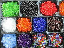 1000 4mm  Lovely Bicone Beads Acrylic Choice of 10 Colours Crafts & Jewellery