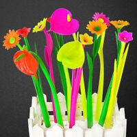 6x New Style Popular Stationery Gift Lovely Flowers Grass Gel Pen Sign Pen JS