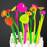 6x New Styleular Stationery Gift Lovely Flowers Grass Gel Pen Sign Pen ZYH