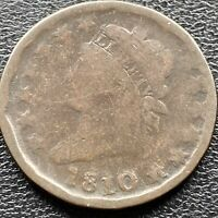 1810 Large Cent Classic Head One Cent Circulated 1c #22618