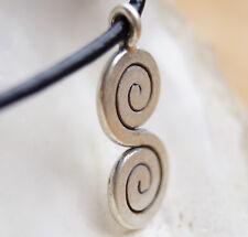 Lang 98 % Silber Doppelspirale Anhänger Kelten Antik Vintage Design Symbol Matt