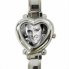 NEW* HOT ELVIS PRESLEY Heart Italian Charm Wrist Watch Gift D02