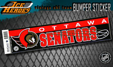 OTTAWA SENATORS Vintage Bumper Sticker - Unused - NOS - NM - Style A