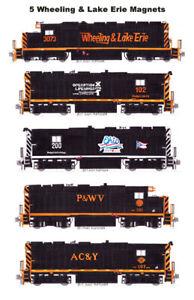 Wheeling & Lake Erie locomotives 5 magnets Andy Fletcher