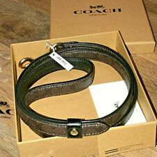"""New listing Coach New in Box with Tag $90. Leather Dog Leash Signature """"C"""" Logo Size 52"""""""