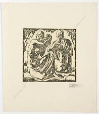"Josef Lacina (b. 1899) ""Bathers"", woodcut, 1920s"