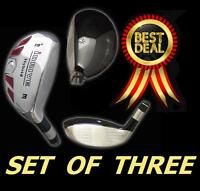 iDrive Made Hybrids #3 #4 #5 Taylor Fit SENIOR Graphite Rescue Iron Woods SET