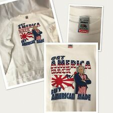 Vtg USA Uncle Sam Get Amercia Back BUY AMERICAN MADE Sweatshirt nwot damaged XL