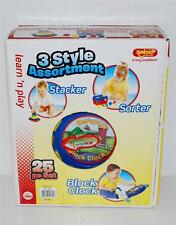 Amloid Learn N Play Toy Set STACKER, SORTER & BLOCK CLOCK 3 Classics Preschool