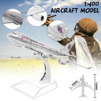 16CM B747 1:400 Scale Aircraft Plane Model Diecast Airplane Desk Gift Toy