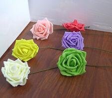 12 Artificial Foam Rose Flower Heads Home Wedding Decor