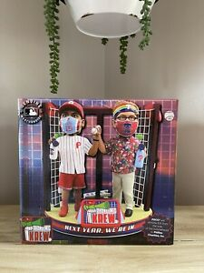 "PHILADELPHIA PHILLIES Super Fans ""Pandemic Krew"" MLB EXCLUSIVE Bobblehead NIB!"
