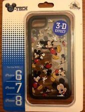 Disney D-TECH Mickey 3-D Effect iPhone 8/7s/7/6s/6 Clear Cellphone Case New