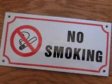 GOOD QUALITY ENAMEL WARE METAL SIGN WALL PLAQUE *NO SMOKING* 20CM X 10CM