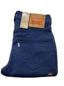 Levi Strauss Mens Jeans 511 Slim Size 28 x 32 Stretch Blue