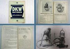 Auto Union DKW Motoren Programm 1932