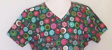 Nurse Scrub SB Scrubs XL V-Neck Christmas Ornaments Snowflakes Scotchgard NWT
