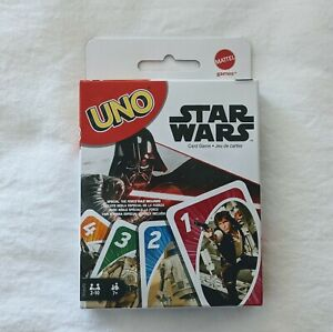 UNO Star Wars Matching Card Game Featuring 112 Cards with Unique Wild Card