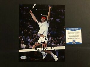 John McEnroe Rare! signed autographed tennis legend 8x10 photo Beckett BAS coa