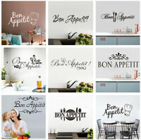 Bon Appetit French Quote Cook Art Wall Sticker Decal Kitchen Dining Room Decor