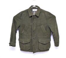 Filson Small Mens Shooting Jacket Green Plaid Lined Soft Pockets Zip Long