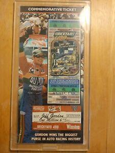 NASCAR Commemorative Ticket, Jeff Gordon 1998 Brickyard 400, only 10k produced