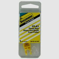 Bussmann Buss 3-Way Glass & Blade Fuse Puller Remover 20 Amp FP-A3 BP/FP-A3-RP