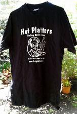 HOT-PLATTERS - BLACK-T-SHIRT - HANES-HIGH-QUALITY -100-COTTON - LARGE