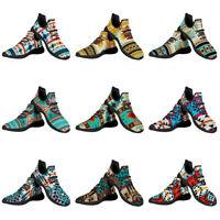 Aztec Women Funky Running Walking Shoes Lightweight Breathable Sports Sneakers