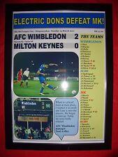 AFC Wimbledon 2 Milton Keynes 0 - 2017-Stampa incorniciata