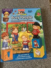fisher price little people Busy People Story Book And Picture Blocks