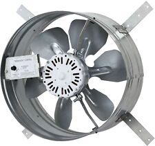 Automatic Gable Mount Attic Ventilator Fan With Adjustable Thermostat, 3.10