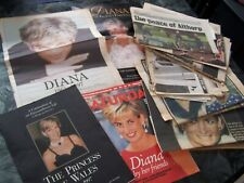 A collection of Princess Diana Magazines & cuttings commemorating her life