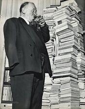 1955 Vintage 16x20 BLAISE CENDRARS Writer Poet France Photo Art ROBERT DOISNEAU