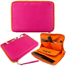 "Magenta/Orange 10.1""Tablet Sleeve Pouch Case For Acer Iconia Tab 10/iPad Air 2"