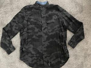 Women's G-Star Blue & Black Rovic Crusader Camouflage Shirt - Size Large (14/16)