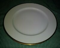 "Antique Set of 2 Nippon NIP66 8.75"" Luncheon Plates Single Gold Band on White EX"