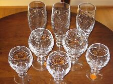 8 OERTEL Crystal Glasses - Cordial/Sherry/Champagne Lead Hand Cut BLEIKRISTALL