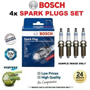 4x BOSCH SPARK PLUGS for PEUGEOT 308 CC 1.6 THP 2010-2014