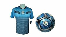 Manchester City F.C. Official Soccer Jersey & Size 5 Ball -07 X-Large