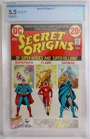 Secret Origins #1 CBCS (5.5) & (#2-5 Raw 5.0-9.2) 1973 & DC Special #10 Raw 1978