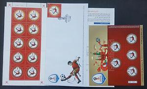Oman 2018 FIFA Football Cup Russia Official Folder + MNH Sheet +large Block +FDC