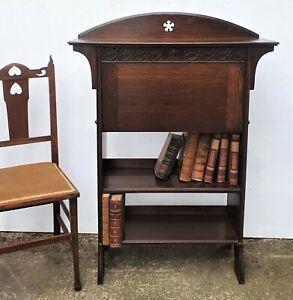 Beautiful Condition Oak Arts And Crafts Bureau Bookcase