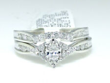 14k White Gold Marquise Cut Engagement Bridal Genuine Diamond Ring 0.50 Ct