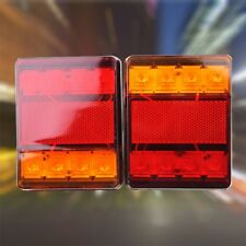 DC12V 8 Led Trailer Lights Trailer Truck Caravan Pair Tail Lights Submersible