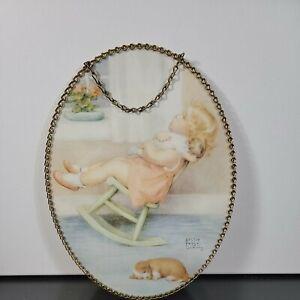 "Vintage Bessie Pease Gutmann Victorian Flue Cover Replica Wall Art 11.5""×8.5"""